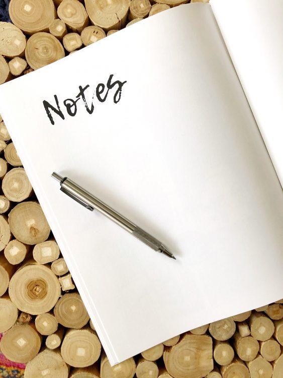 design plan notes page