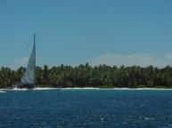 Llegando a la Isla Saona