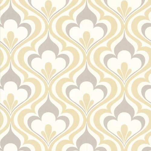 20 Gray And Yellow Nursery Designs With Refreshing Elegance: Lola Ogee Bargello Wallpaper