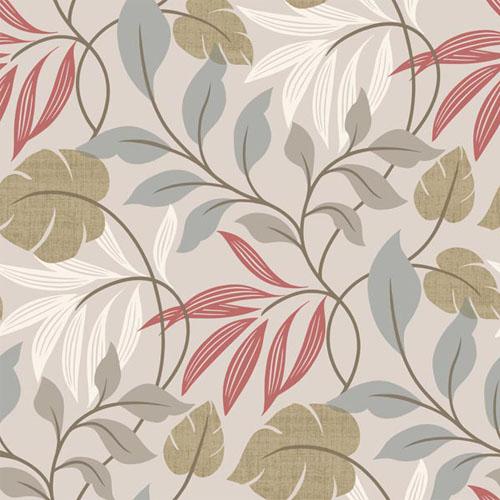 2535-20626 simple space 2 eden modern leaf wallpaper gray red green