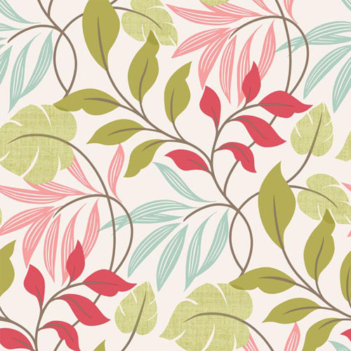 2535-20629 simple space 2 eden modern floral wallpaper bright pink green aqua