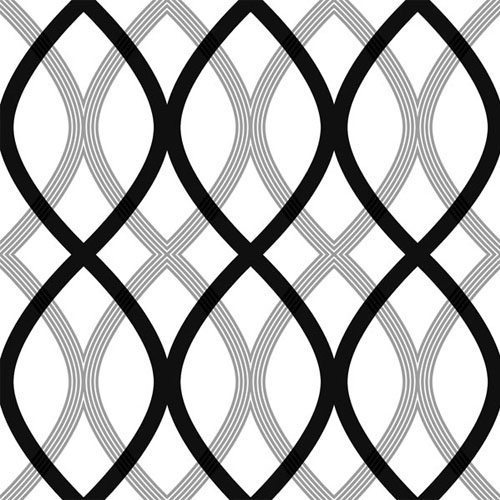 2535-20668 simple space 2 contour lattice wallpaper black gray white