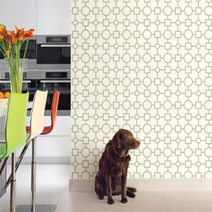 Kitchen Bed Bath 4 geovine geometric lattice wallpaper roomset