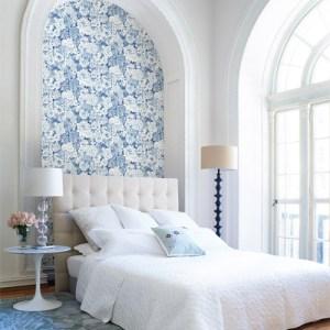 kitchen bed bath 4 dodge floral wallpaper roomset