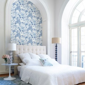 kitchen bed bath 4 dodge floral wallpaper roomset