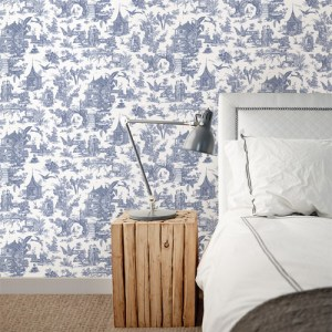 kitchen bed bath sage toile wallpaper roomset