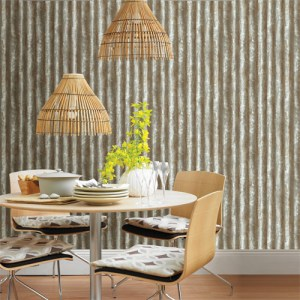 2701-22335 reclaimed corrugated metal wallpaper roomset