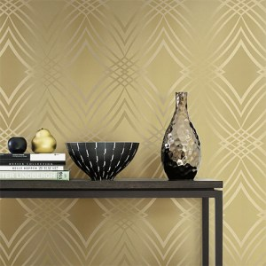 Gatsby graphic wave wallpaper roomset