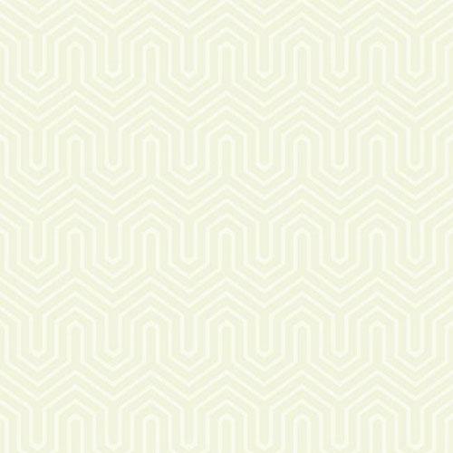 GE3714 ashford geometrics labyrinth flocked wallpaper pearl