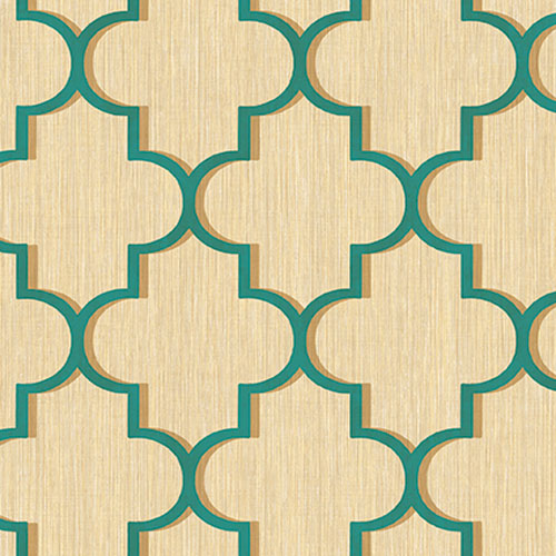 GT20604 geometric seabrook agate trellis wallpaper teal gold