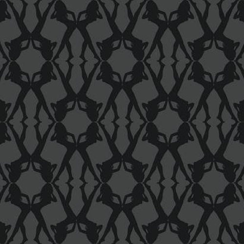 RK4476 urban chic bond girls 007 wallpaper black charcoal