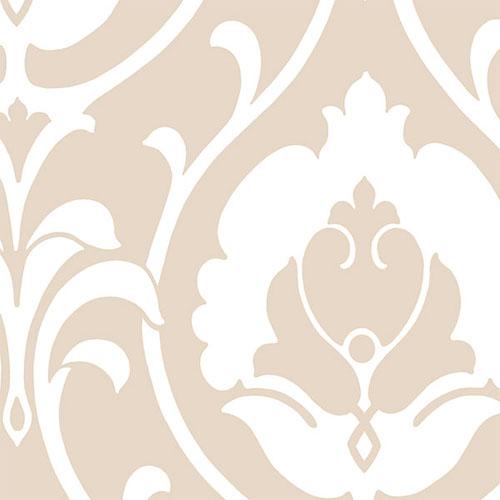 SH34513 shades ogee damask wallpaper beige white
