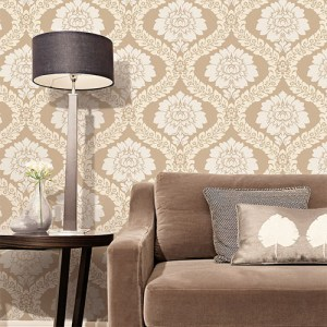 shades classic damask wallpaper roomset