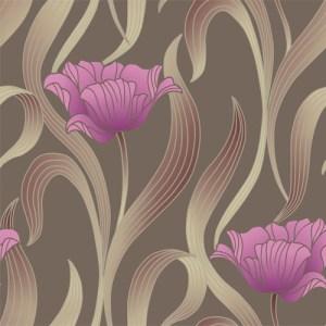 VL214143 obsession van luit libby tulip wallpaper brown purple