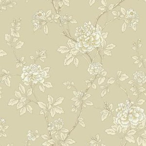 WL8618 williamsburg 2 chinese peony Sure Strip wallpaper beige