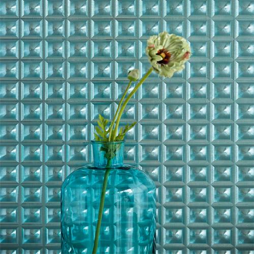 Venue Cayo Square Optic Wallpaper Roomset