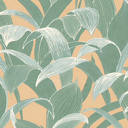 AI40305 Koi Imperial Leaf Wallpaper Green Gold