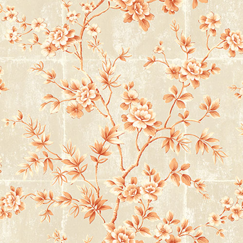 AI41901 Koi Great Wall Wallpaper Peach