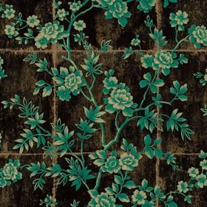 AI41904 Koi Great Wall Wallpaper Black