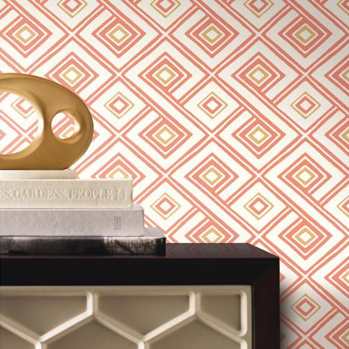 Pattern Play Paradox Geometric Wallpaper Roomset