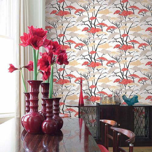 Koi Confucius Wallpaper Roomset
