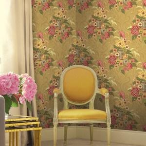 Koi Dynasty Floral Wallpaper Roomset
