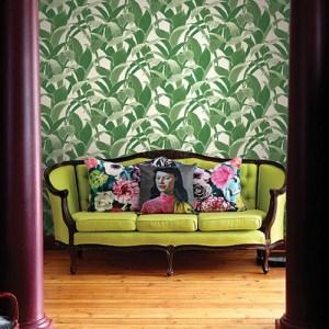 Koi Imperial Leaf Wallpaper Roomset