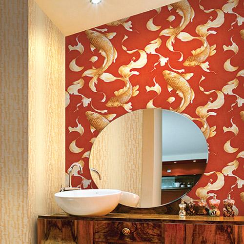 Koi fish wallpaper lelands wallpaper for Koi wallpaper for walls