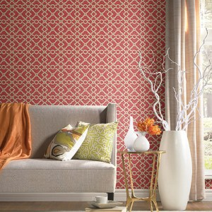 Waverly Global Chic Artistic Twist Sure Strip Wallpaper Roomset