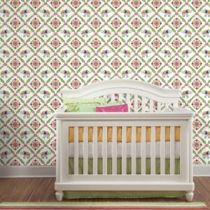 Waverly Kids Bollywood Sure Strip Wallpaper Roomset