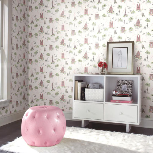 Waverly Kids Tres Chic Sure Strip Wallpaper Roomset