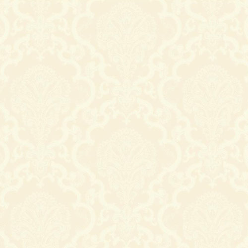 WM2569 Williamsburg Halifax Lace Sure Strip Wallpaper Pearl