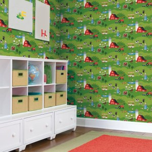 Brothers and Sisters Volume 5 Down on the Farm Sure Strip Wallpaper Roomset