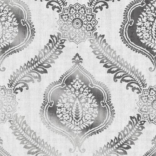 2618-21303 Alhambra Zoraya Damask Wallpaper Metallic Silver