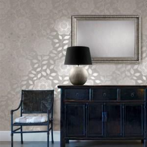 Albambra Shirazi Bohemian Floral Wallpaper Roomset