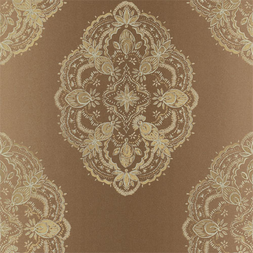 2618-21333 Alhambra Mirador Global Medallion Wallpaper Copper