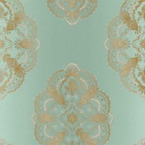 2618-21334 Alhambra Mirador Global Medallion Wallpaper Aqua
