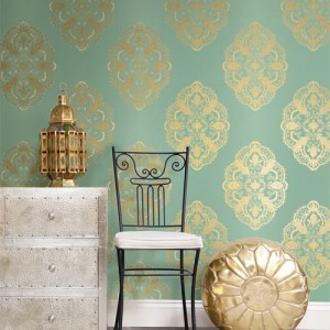 Alhambra Mirador Global Medallion Wallpaper Roomset
