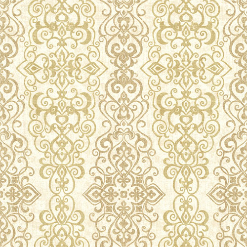 2618-21342 Alhambra Mexuar Filigree Stripe Wallpaper Gold