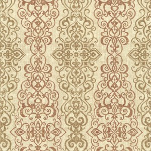 2618-21345 Alhambra Mexuar Filigree Stripe Wallpaper Copper