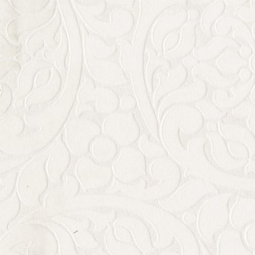 352000 Eijffinger Whisper Cascada Flocked Medallion Wallpaper Cream