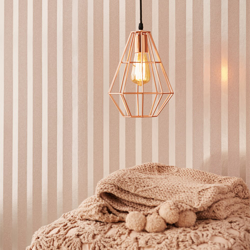 Eijffinger Whisper Doris Beaded Stripe Wallpaper Roomset