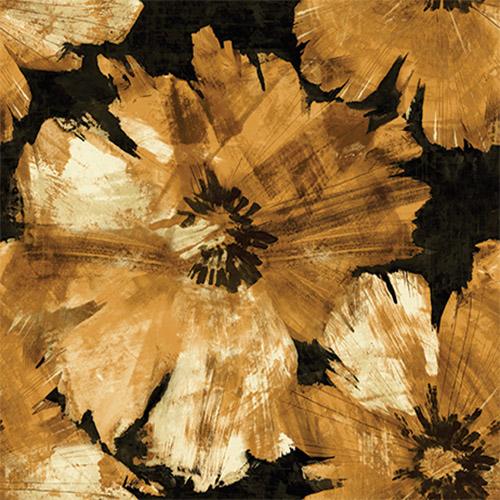 AV50005 Seabrook Avant Garde Curie Large Floral Wallpaper Sepia