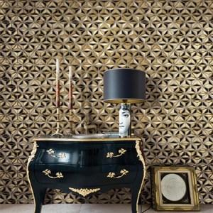 Seabrook Avant Garde Einstein Geometric Wallpaper Roomset