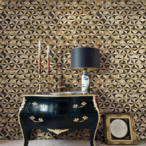 Seabrook Avant Garde Einstein Geometric Wallpaper Roomset