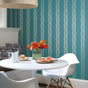 Waverly Stripes Turning Tides Sure Strip Wallpaper Roomset