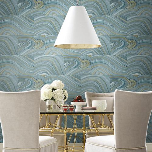 Dream On Onyx Wallpaper Roomset
