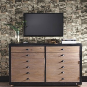 Carey Lind Menswear Screening Room Sure Strip Wallpaper Roomset
