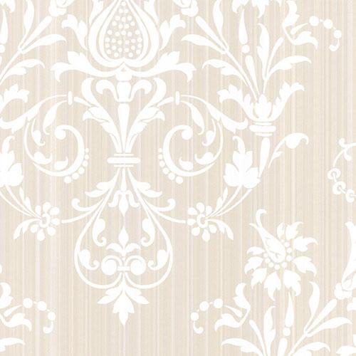 CS27364 Norwall Classic Silks 2 Stria Damask Wallpaper Alabaster