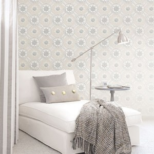 Norwall Classic Silks 2 Plaster Relief Wallpaper Roomset